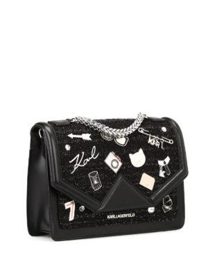 Karl Lagerfeld: shoulder bags online - K/Klassic embellished shoulder bag