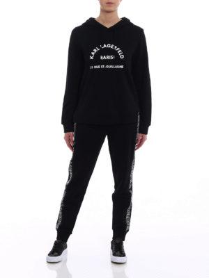 Karl Lagerfeld: Sweatshirts & Sweaters online - Relief logo print hoodie