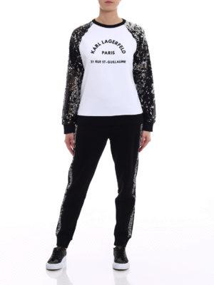Karl Lagerfeld: Sweatshirts & Sweaters online - Sequined sleeve sweatshirt