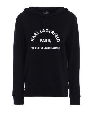 Karl Lagerfeld: Sweatshirts & Sweaters - Relief logo print hoodie