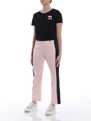 Karl Lagerfeld: t-shirts online - Ikonik Emoji Karl black T-shirt
