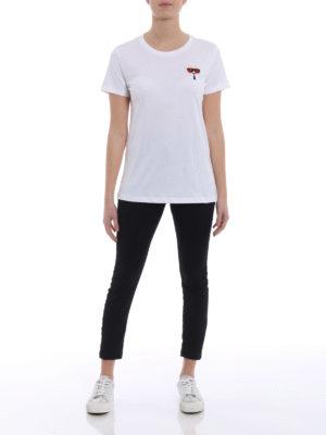 Karl Lagerfeld: t-shirts online - Ikonik Emoji Karl white T-shirt