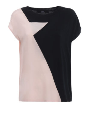 Karl Lagerfeld: t-shirts - Silk star panelled T-shirt