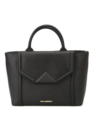 Karl Lagerfeld: totes bags - K/Klassic saffiano leather tote