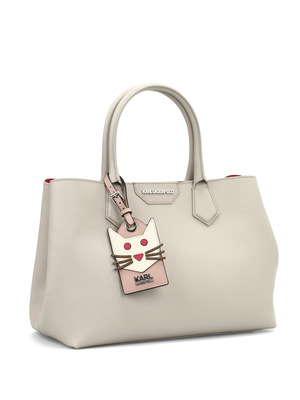 Karl Lagerfeld: totes bags online - Saffiano leather K/shopper