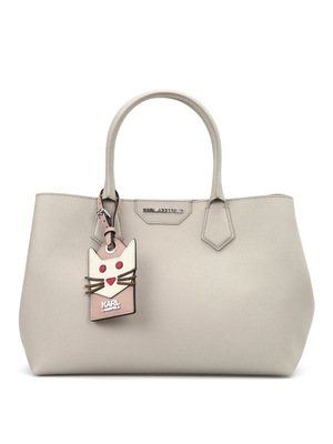 Karl Lagerfeld: totes bags - Saffiano leather K/shopper