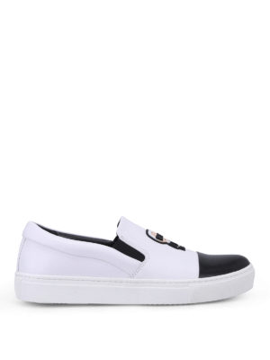 Karl Lagerfeld: trainers - Choupette Ikon leather slip-ons