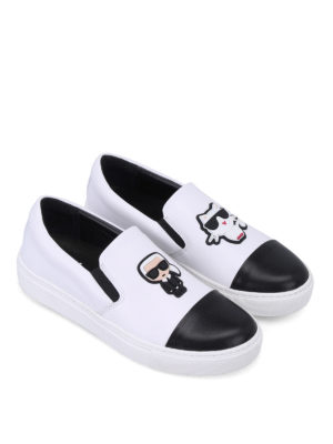 Karl Lagerfeld: trainers online - Choupette Ikon leather slip-ons
