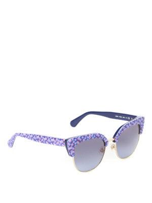 f847ea49595b KATE SPADE: occhiali da sole - Occhiali Karri half-frame stampata