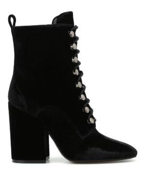Kendall + Kylie: boots - Bridget lace-up velvet boots