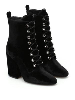 Kendall + Kylie: boots online - Bridget lace-up velvet boots