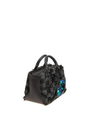 Kendall + Kylie: bowling bags online - Check faux fur bowling bag