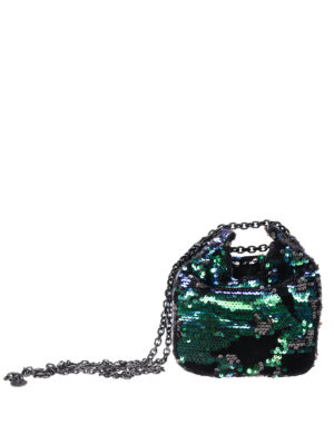 Kendall + Kylie: Bucket bags - Sequin bucket bag