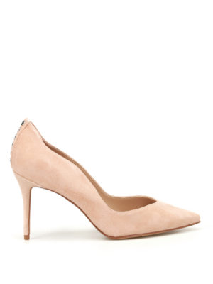 Kendall + Kylie: court shoes - Brianna nude suede sensual pumps