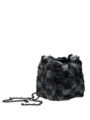 Kendall + Kylie: cross body bags online - Check print fur cross body
