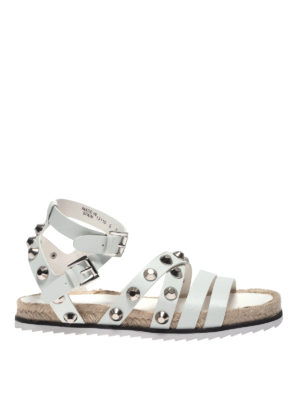 Kendall + Kylie: sandals - Bianca white leather sandals