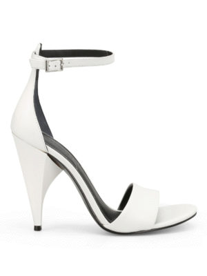 Kendall + Kylie: sandals - Emilee sculpture heel white sandals