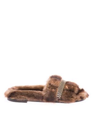 Kendall + Kylie: sandals - Faux-fur slides