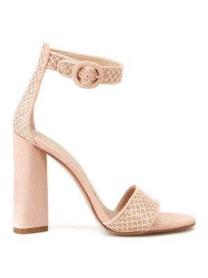 Kendall + Kylie: sandals - Giselle gold lurex heeled sandals