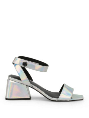Kendall + Kylie: sandals - Kyla silver leather sandals