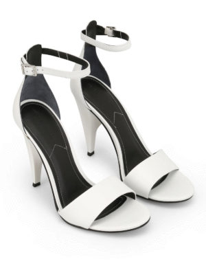 Kendall + Kylie: sandals online - Emilee sculpture heel white sandals