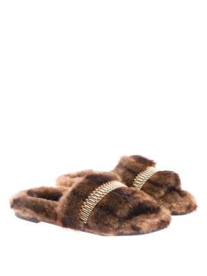 Kendall + Kylie: sandals online - Faux-fur slides
