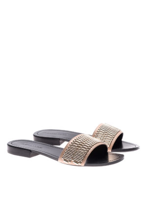 Kendall + Kylie: sandals online - Kennedy leather slide sandals