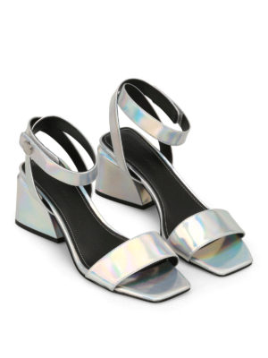 Kendall + Kylie: sandals online - Kyla silver leather sandals