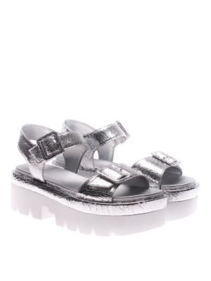 Kendall + Kylie: sandals online - Wave silver wedges