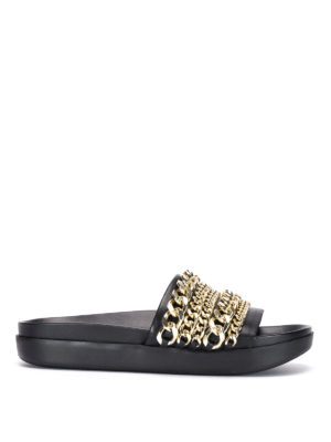 Kendall + Kylie: sandals - Shiloh chain detail sandals