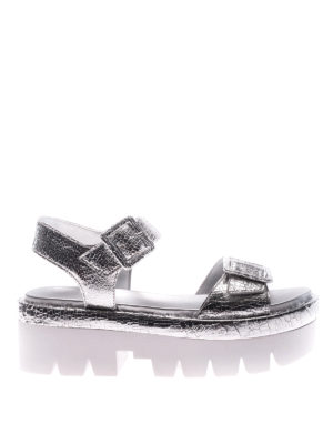 Kendall + Kylie: sandals - Wave silver wedges
