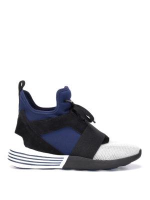 Kendall + Kylie: trainers - Braydin high-top neoprene sneakers