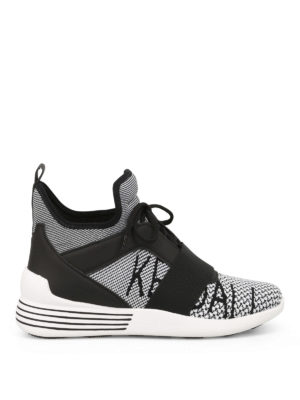 Kendall + Kylie: trainers - Braydin high-top white sneakers
