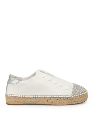 Kendall + Kylie: trainers - Juniper slip-on leather espadrilles