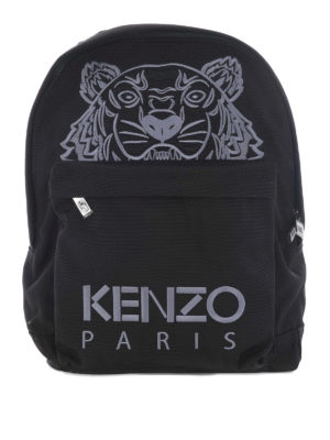 Kenzo: backpacks - Large Tiger canvas backpack