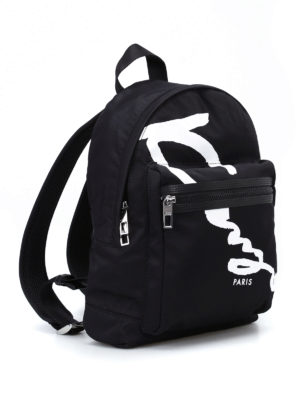 Kenzo: backpacks online - Signature nylon medium backpack