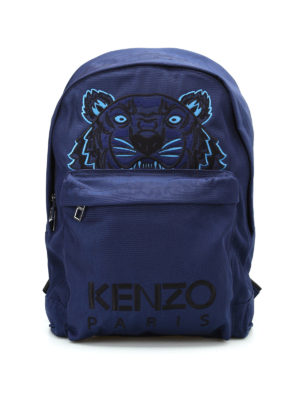Kenzo: backpacks - Tiger large canvas backpack