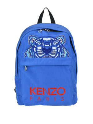 KENZO: zaini - Zaino grande Tiger in canvas