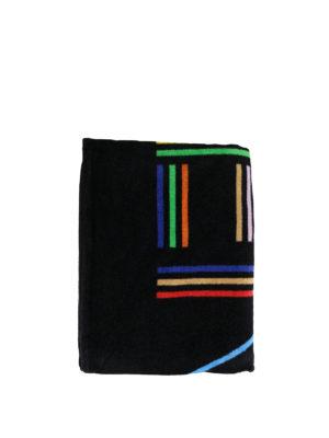 KENZO: accessori mare - Telo mare in cotone con logo multicolor