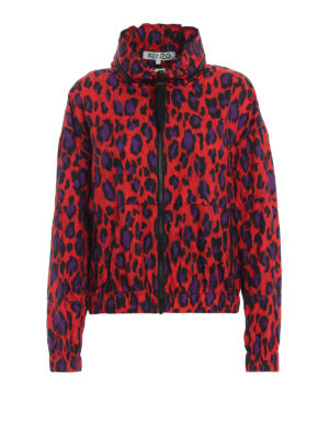 KENZO: giacche casual - Giacca a vento stampa animalier