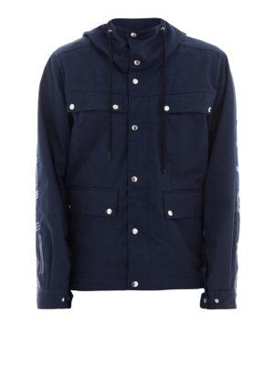 KENZO: giacche casual - Field jacket in twill di cotone blu