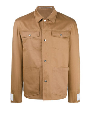 Kenzo: casual jackets - Cotton gabardine multipocket jacket