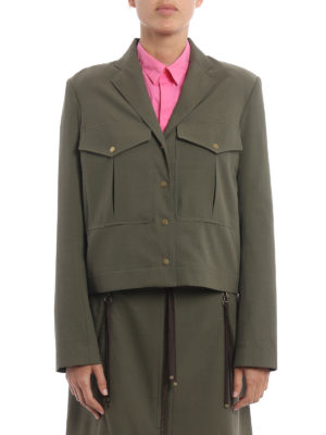 Kenzo: casual jackets online - Army style short jacket