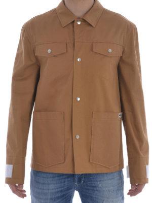 Kenzo: casual jackets online - Cotton gabardine multipocket jacket