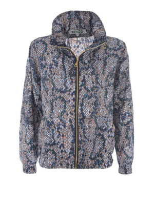 Kenzo: casual jackets - Snake print windbreaker jacket