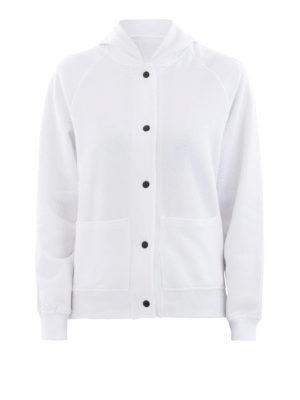 KENZO: giacche casual - Giacca stile felpa in cotone bianco