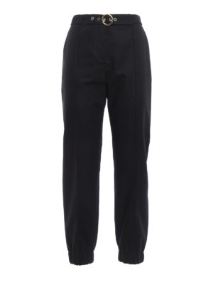 Kenzo: casual trousers - Belted sporty trousers
