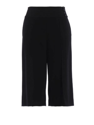 Kenzo: casual trousers - Crepe cady culottes