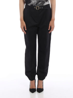 Kenzo: casual trousers online - Belted sporty trousers