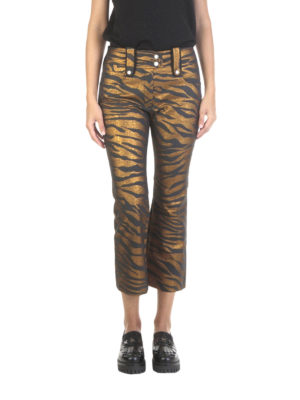 Kenzo: casual trousers online - Cotton blend crop trousers